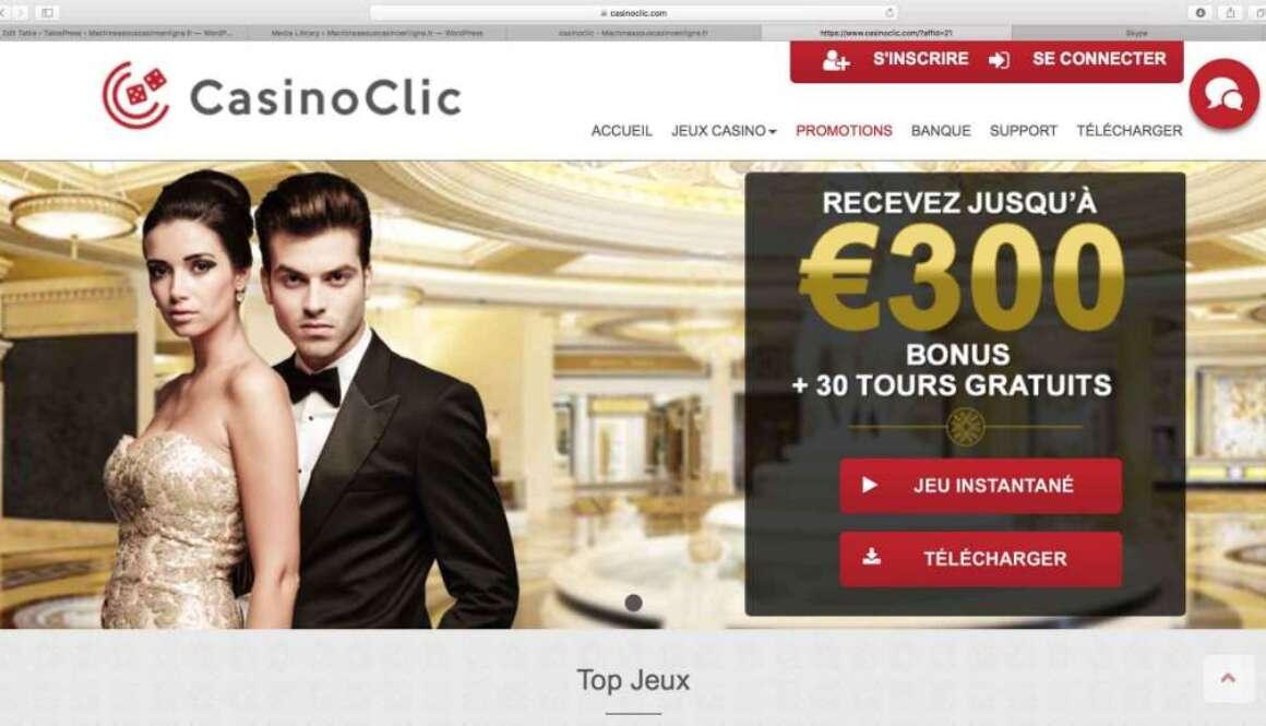 avis clic casino
